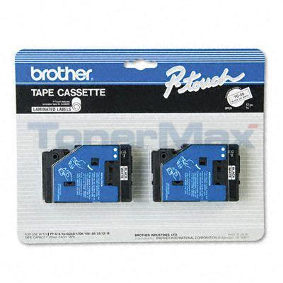 BROTHER P-TOUCH TAPE BLACK/WHITE (1/2 X 25)